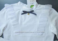 Школьная блузка с рюшами 140 146, 152, 158 164 размер SMIL Украина качество