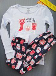 Пижама с совами размер 6Т, 8Т Gymboree Америка оригинал