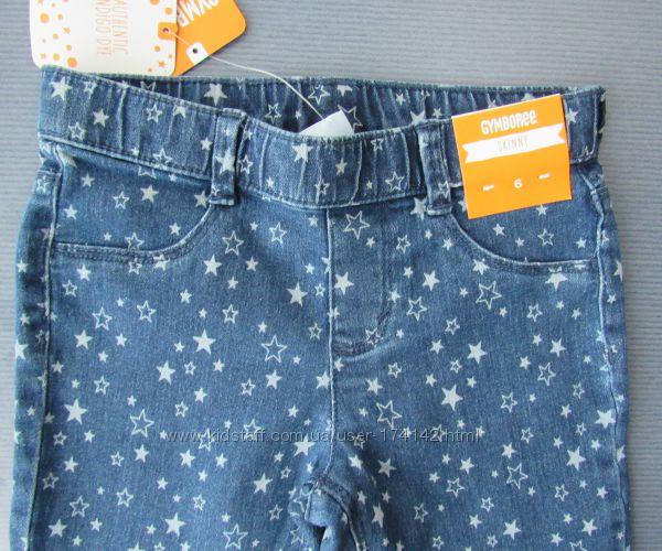 Джеггинсы джинсовые со звездами на 6 лет, Gymboree оригинал Америка