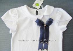 Блуза с коротким рукавом и бантом 116-164 SMIL Украина новая коллекция