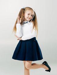 Синяя, черная Стеганая теплая юбка 122-158 размеры SMIL Украина