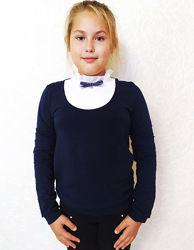 Школьная блузка с манишкой 116-164 размеры SMIL Украина