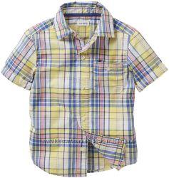 Стильная рубашка в клетку Carters р. 7