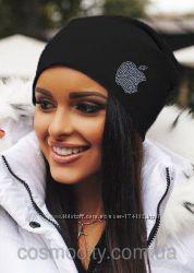 шапки для девушек с стразами