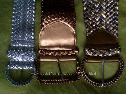 модные плетеные широкие ремни