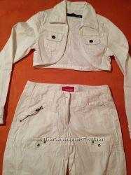 летние белые брюки филетние белые брюки-карго   фирмы Rejeрмы Reject хлопок