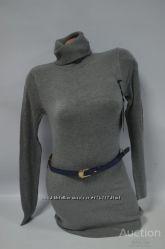 Стильная женская туника удлиненный свитер гольф