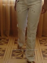 летние белые брюки фирмы Reject хлопок