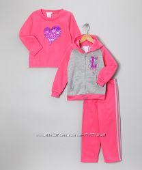 Спортивные костюмы теплые для девочек 3-6лет. Тройка
