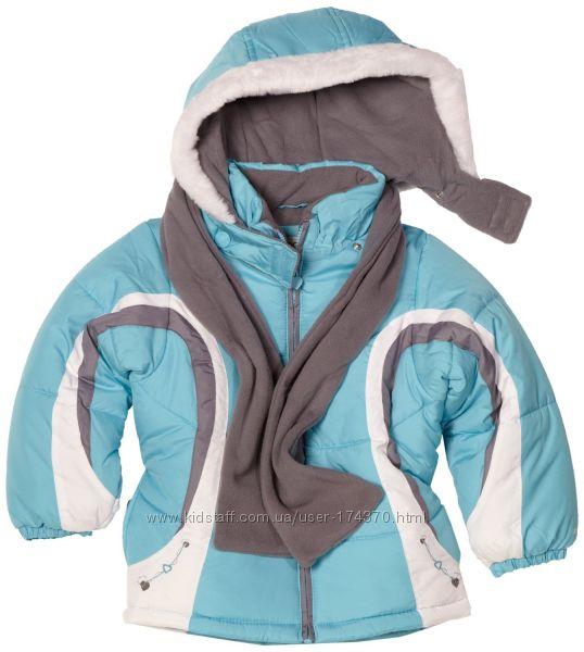 Куртки теплые зимние для девочек 3-6 лет. London Fog Англия