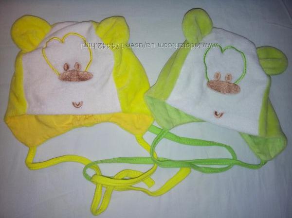 Наши чудесные шапочки Gabby , размер 3-5 мес. Можно для двойни.