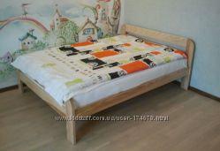 Кровати из натурального  дерева под заказ
