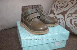 Новые кожанные теплые деми ботинки STUPS 16-16, 5 см стелька