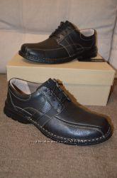 Кожаные туфли ботинки на шнуровке Clarks 11. 5US 46 р 30 см
