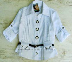 Р. 134-158 распродажа Детская школьная блузка. Хлопок.