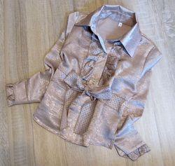 Распродажа детская блузка р.128-146