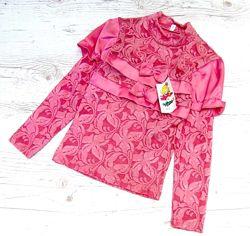 Распродажа детская блузка р.122-146
