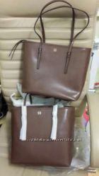 женская сумка шопер coccinelle из кожи сафьяно