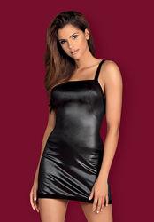 Leatheria Obsessive черное мини платье лак пеньюар