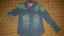 Джинсовая рубашка 134р