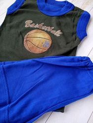 Летняя одежда на мальчика. Футболка, шорты, костюм, бандана.