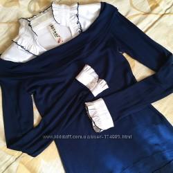 Жіноча кофтинка обманка - блузка та кофтинка 2-в-1.