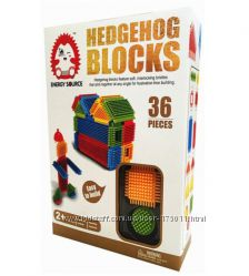 Конструктор игольчатый аналог Bristle - Hedgehog Blocks Bh601 - 36 деталей