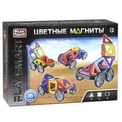 Магнитный конструктор Play Smart 16 деталей с колесами