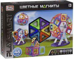 Магнитный конструктор Play Smart 46 деталей