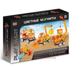 Конструктор магнитный Play Smart 45 деталей Стройтехника