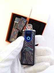 Подарочная тонкая электронная USB юсб зажигалка/запальничка