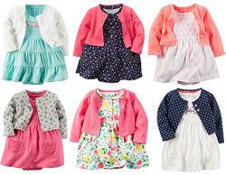 Платье и кофта Carter&acutes для девочки 12-18м