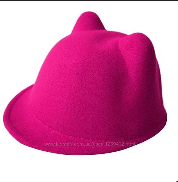 Детская шляпа шляпка с ушами ушками 50-54 см