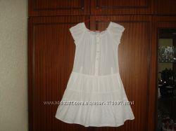 Платье белое  шитье