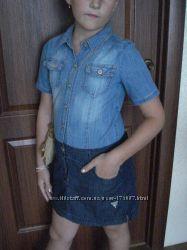 Платье джинсовое на 10 лет