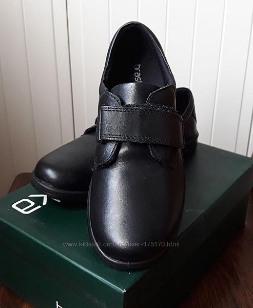 Школьные кожаные туфли Braska, р-р 36, стелька 23 см