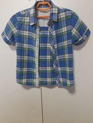 Рубашка с коротким рукавом m&s 5-6 лет