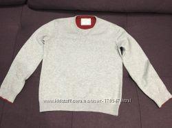 Джемпер Zara школьный на мальчика 9-10лет, 140см серого цвета