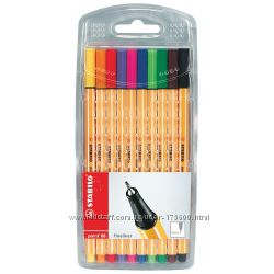Ручки Stabilo. 0, 4 мм. 10 шт. Германия. Оригинал