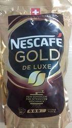 Швейцарский растворимый кофе Nescafe Gold De Luxe 180g