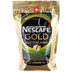 Швейцарский растворимый кофе Nescafe Gold All Italiana 180g