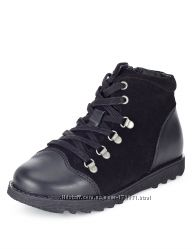 Кожаные деми ботинки Marks&Spencer, размер 12 UK