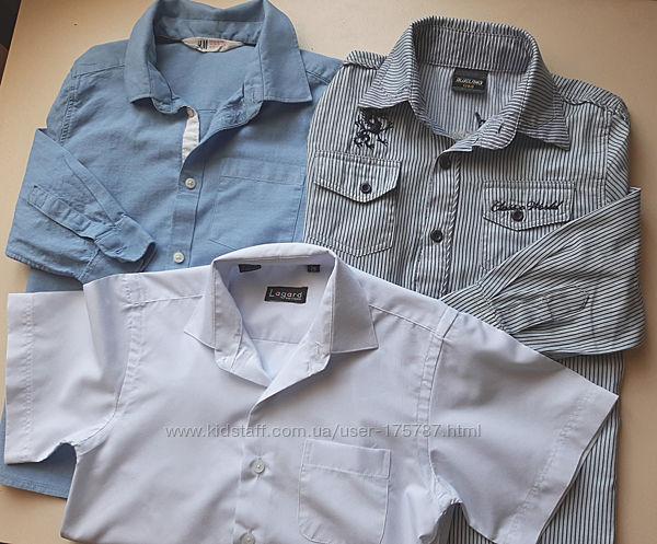 Рубашки для мальчика р128 3шт
