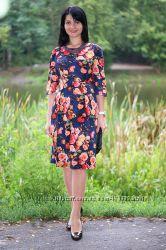Платье для беременных и кормящих мам Осенние цветы