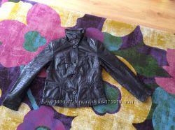 Кожаная куртка на синтепоне