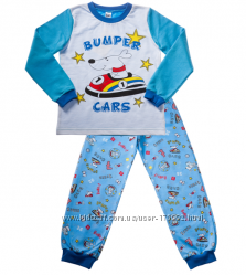 Теплая пижама для мальчиков на манжетах