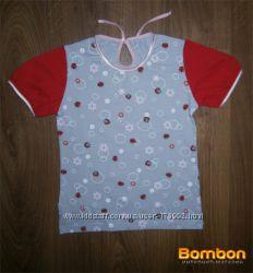 Модная футболка для девочек 4 лет Божья коровка