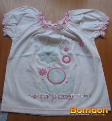 Симпатичная футболка для девочки 4-5 лет