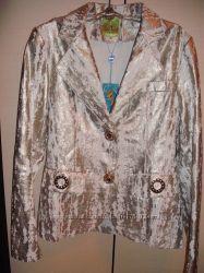 Золотистый пиджак цену снизила