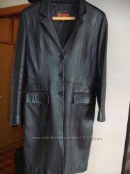 Черный кожаный френч